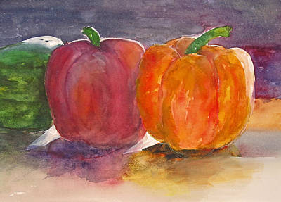 Painting - Peppers by Heidi Patricio-Nadon