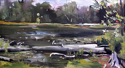 Painting - Pequot Pond by Nancy Griswold