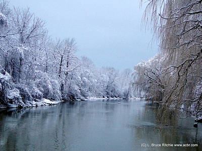 Mixed Media - Perch Creek In Winter Morning by Bruce Ritchie