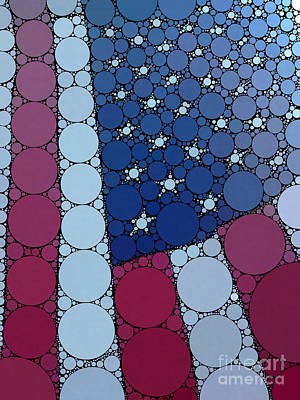 Percolated American Flag Art Print by Christine Segalas