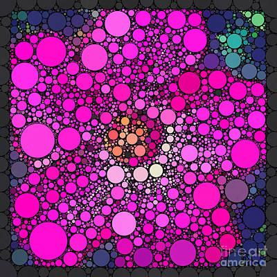 Percolated Pink Hibiscus Art Print