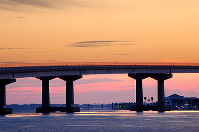 Perdido Bridge Sunrise Closeup Original