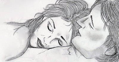 Drawing - Perfect Pillow by Rebecca Wood