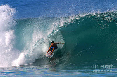Surfing Photograph - Perfect Pipeline by Paul Topp