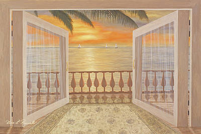 Sunset Painting - Perfect Sunset by Diane Romanello