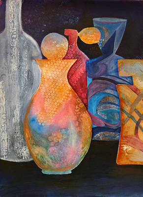 Painting - Perfume Bottles 1 by Jean Rascher