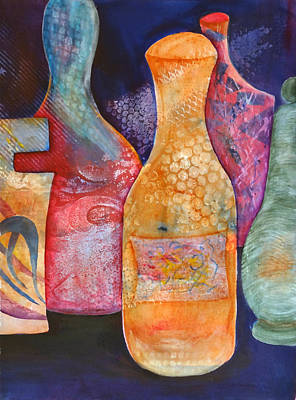 Painting - Perfume Bottles 2 by Jean Rascher