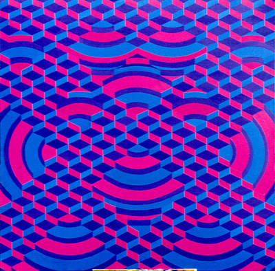 Painting - Periodic Structure 1974 by Nancy Griswold