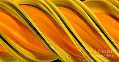 Peripheral Streak Image Of Squash Print by Ted Kinsman
