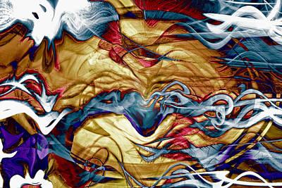 Abstract Movement Digital Art - Permanent Waves by Linda Sannuti