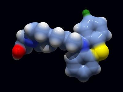 Perphenazine Antipsychotic Drug Art Print by Dr Tim Evans