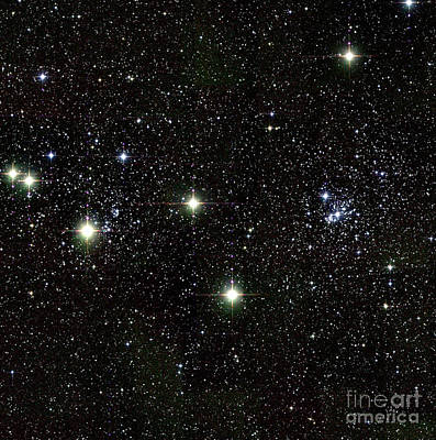 Perseus Double Star Cluster, Infrared Art Print by 2MASS project / NASA