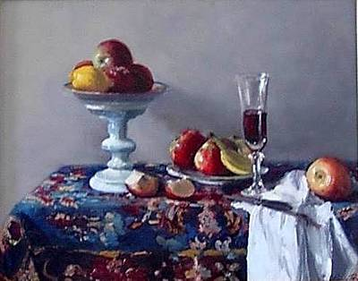 Persian Fruit And Still Life Original by Lynda Bjornson Moyer