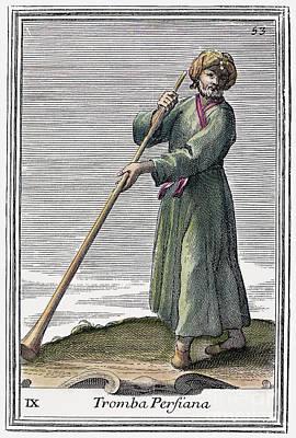 Persian Trumpet, 1723 Art Print by Granger