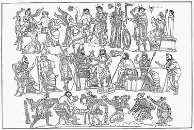 Persian War Council Art Print by Granger
