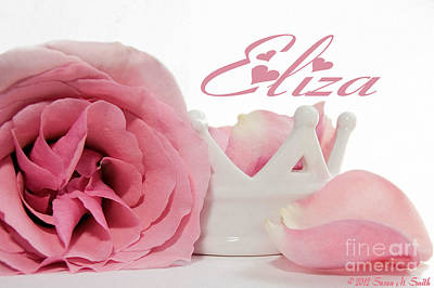 Susan M. Smith Photograph - Personalized Princess Petals by Susan Smith