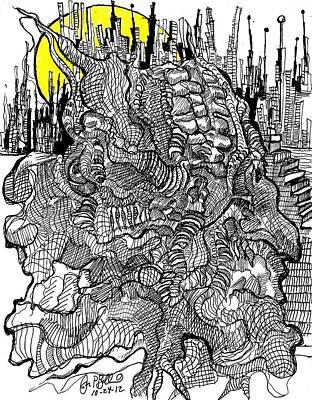 Personally Split  Art Print by Jon Baldwin  Art