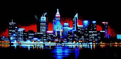 Perth By Black Light   Sold Art Print