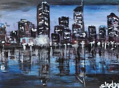 Wa Painting - Perth by Sladjana Lazarevic