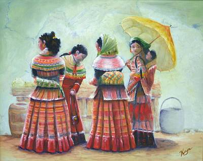 Peruvian Ladies Art Print by Catherine Link