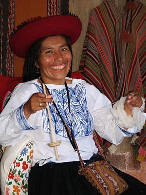 Photograph - Peruvian Weaver by Nora Martinez