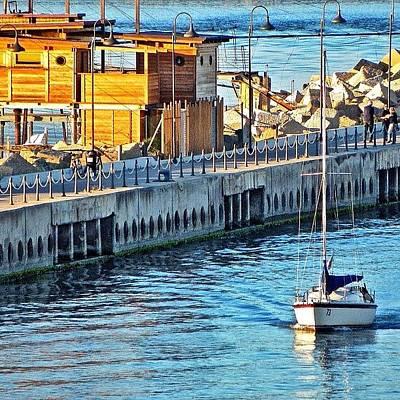 Still Life Photograph - Pescara River And Sea by Chi ha paura del buio NextSolarStorm Project