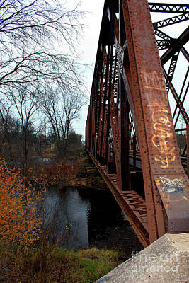 Photograph - Peshtigo River Train Bridge by Ms Judi