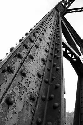Photograph - Peshtigo Train Bridge Detail by Mark J Seefeldt
