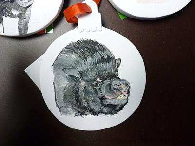 Pigatopia Painting - Pet Portrait Memorial Ornament Hand Painted And Made To Order By Pigatopia by Shannon Ivins