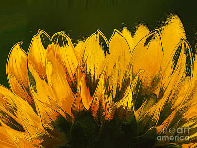 Sunflowers Digital Art - Petales De Soleil - A41b by Variance Collections