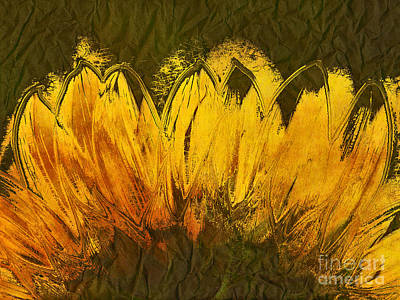 Sunflowers Digital Art - Petales De Soleil - A43t02b by Variance Collections