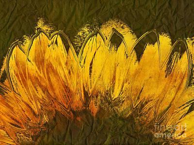 Petales De Soleil - A43t02b Art Print by Variance Collections