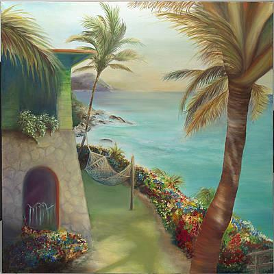 Peter Island Escape Art Print by Lisa Kruse