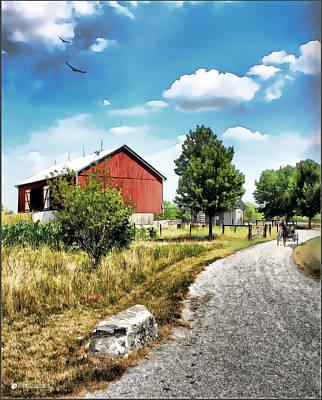 Peter Stuckey Farm Art Print by Tom Schmidt