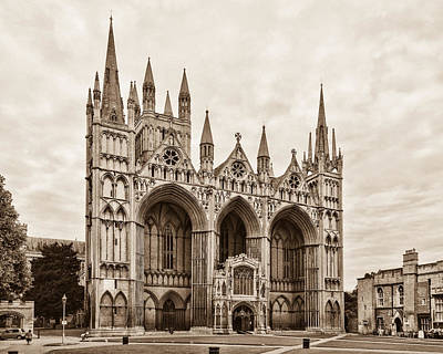 Photograph - Peterborough Cathedral by David Nicholls