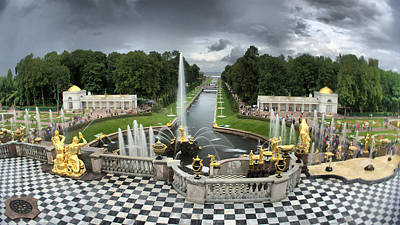 Photograph - Peterhof Palace 16x9 by Michael Goyberg