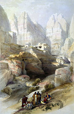 Petra March 10th 1839 Art Print by Munir Alawi