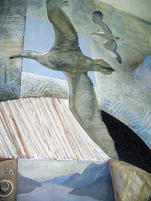 Ichtiology Painting - Petrels. Kindergarten Mural. 1988 by Yuri Yudaev-Racei