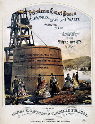 Photograph - Petroleum Songsheet, 1865 by Granger