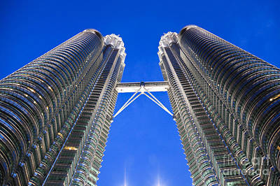 Photograph - Petronas Tower Bridge Detail by Gualtiero Boffi