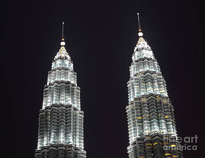 Photograph - Petronas Tower Top Detail by Gualtiero Boffi