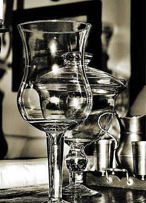 Pewter And Glass Art Print by Bob Wall