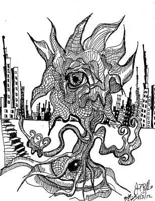 Peyote Mind  Art Print by Jon Baldwin  Art