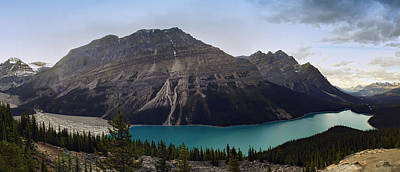 Turquiose Photograph - Peyto Lake - Canadian Rocky Mountains by Daniel Hagerman