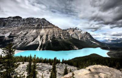 Rocky Digital Art - Peyto Lake Alberta Canada by Mark Duffy
