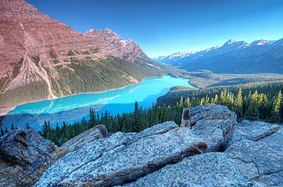 Y120831 Photograph - Peyto Lake At Sunrise by Brook Tyler Photography