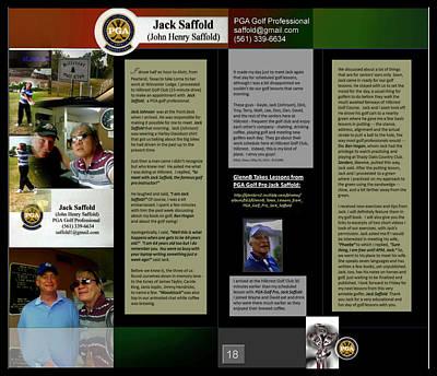 Digital Art - Pga Golf Pro - Jack Saffold P18 by Glenn Bautista