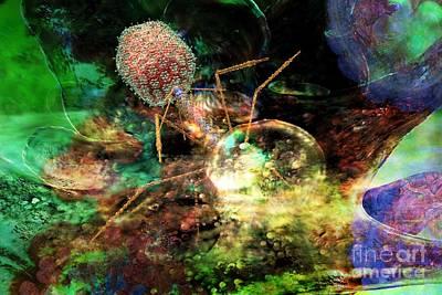 Digital Art - Phage Dreaming 1 by Russell Kightley