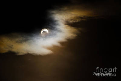 Photograph - Phantom Moon - Title Printed by Katie LaSalle-Lowery