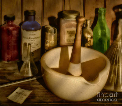 Chemist Photograph - Pharmacist Tools by Susan Candelario